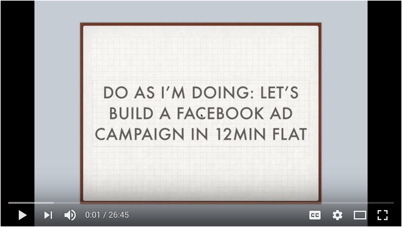 Video - Day 7 - Step 4 of 4 - Walk-through Over The Shoulder Facebook Ad Training