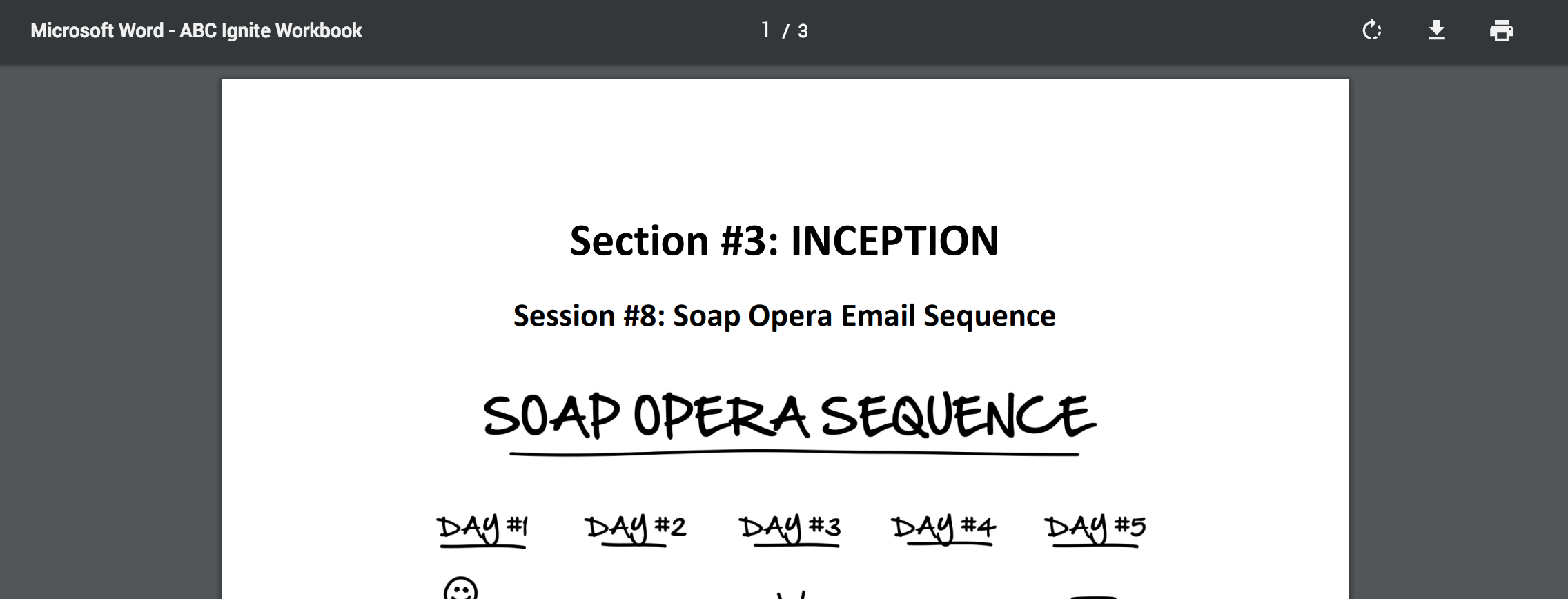 PDF - Day 8 - Step 2 of 8 Download The SOAP Opera Workbook