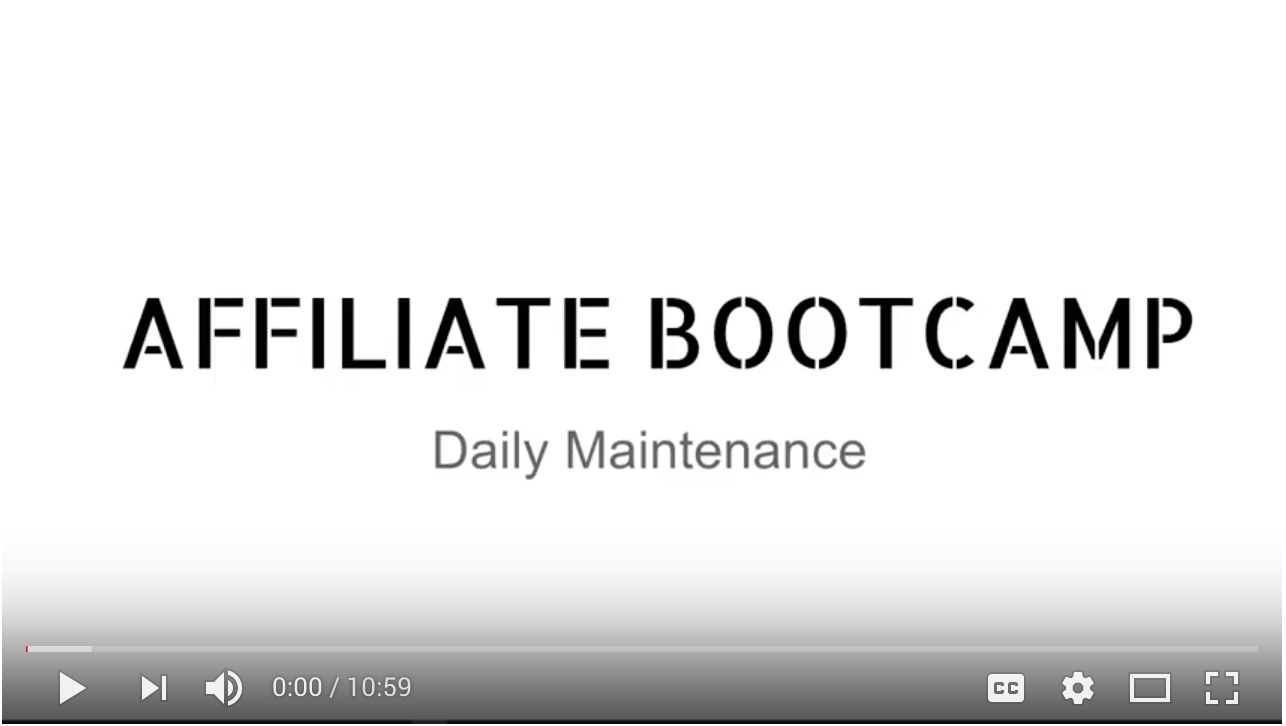 Video - Day 20 - Daily Maintenance