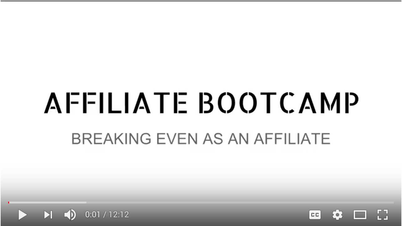 Video - Day 3 - Step 4 of 4 Walk-through Breaking Even As An Affiliate