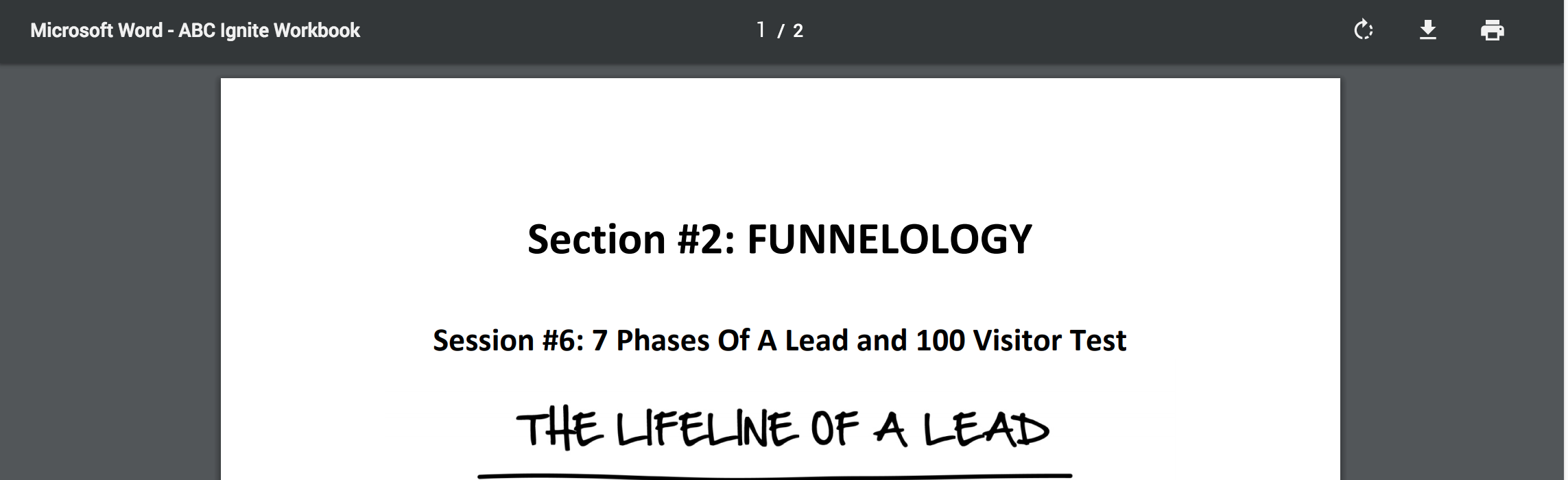 PDF - Day 5 - Step 2 of 4 -  7 Phases Of A Lead and 100 Visitor Test
