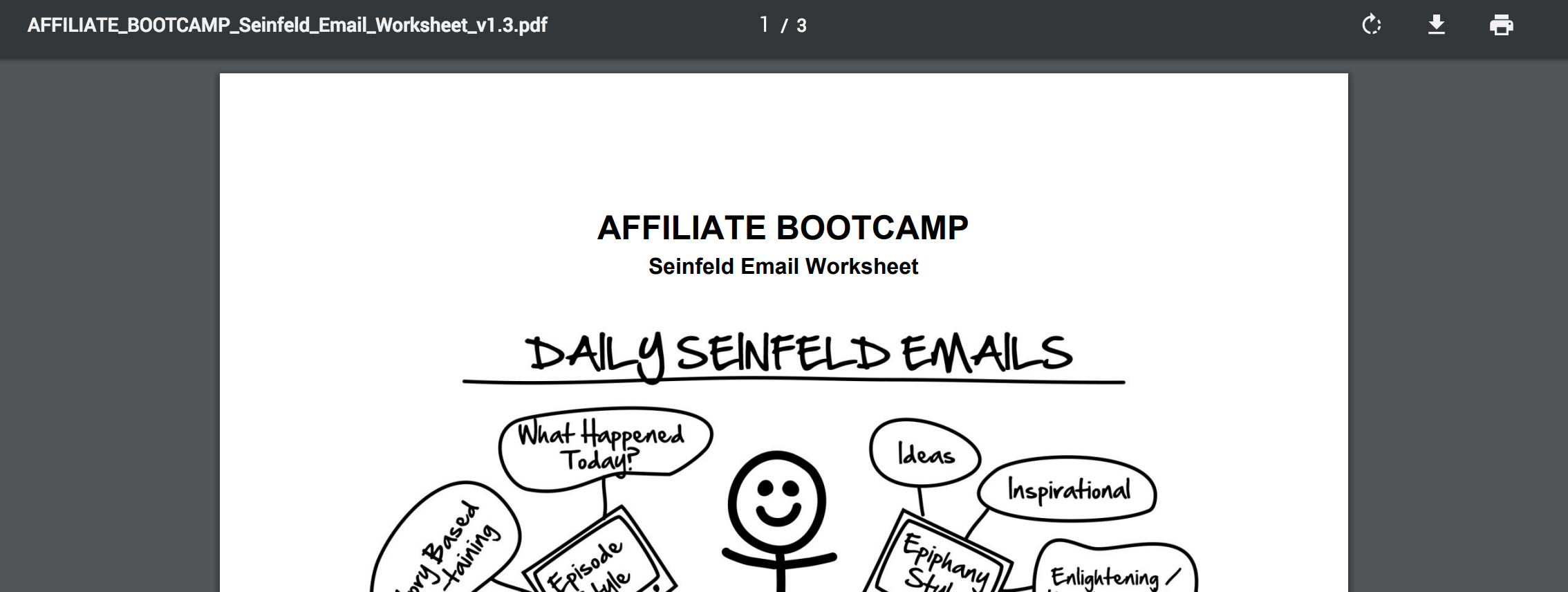 PDF - Day 53 - Step 2 of 3 Download Your Seinfeld Emails Worksheet