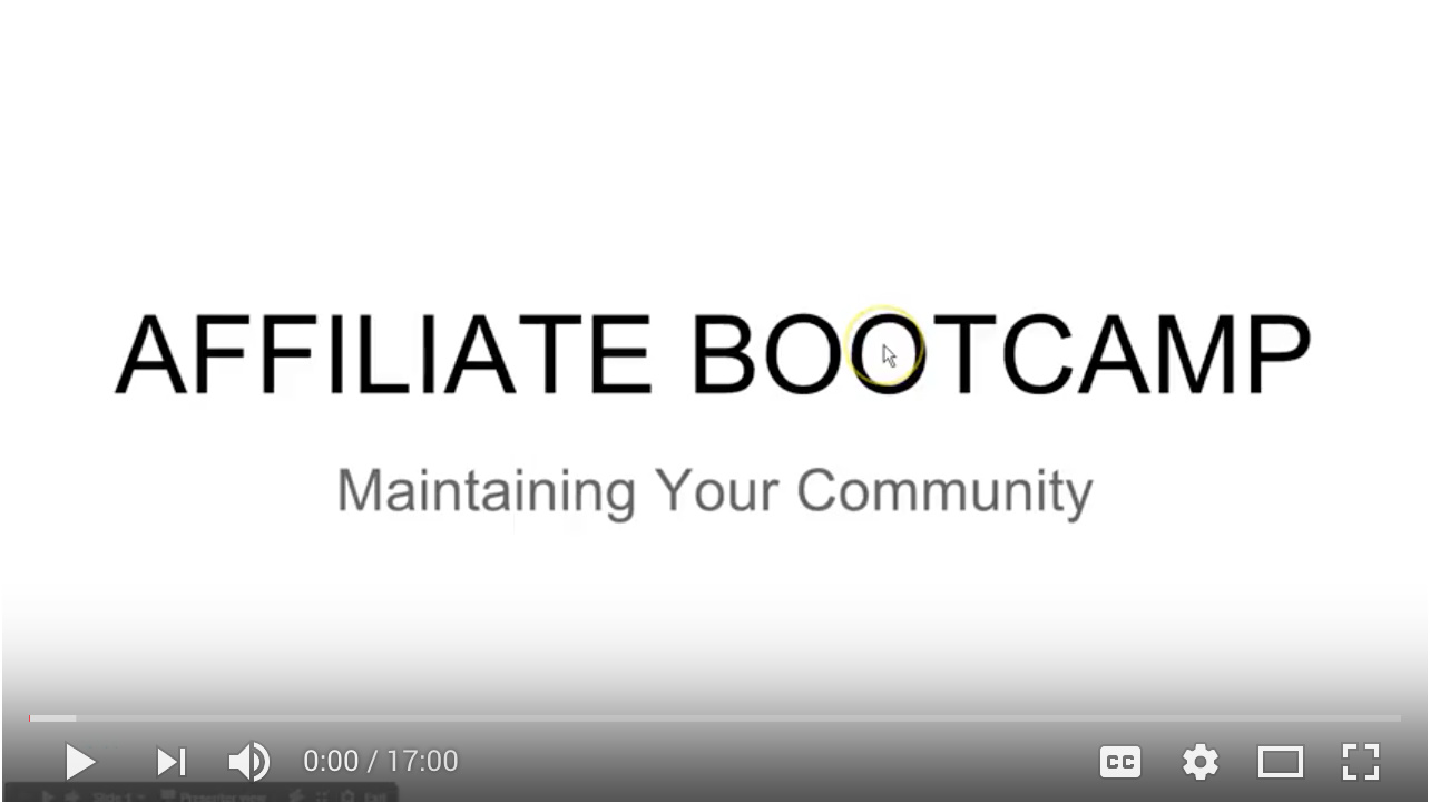 Video - Day 18 - Step 1 of 2 - Maintaining Your Community