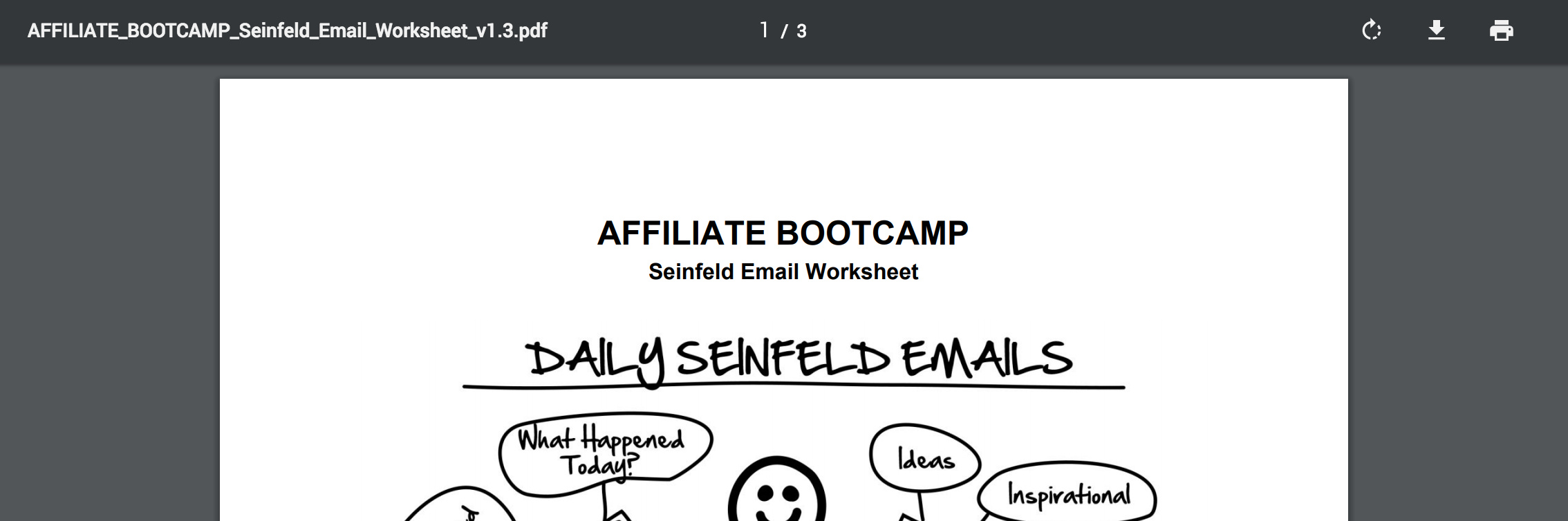 PDF - Day 63 - Step 2 of 3 Download Your Seinfeld Emails Worksheet