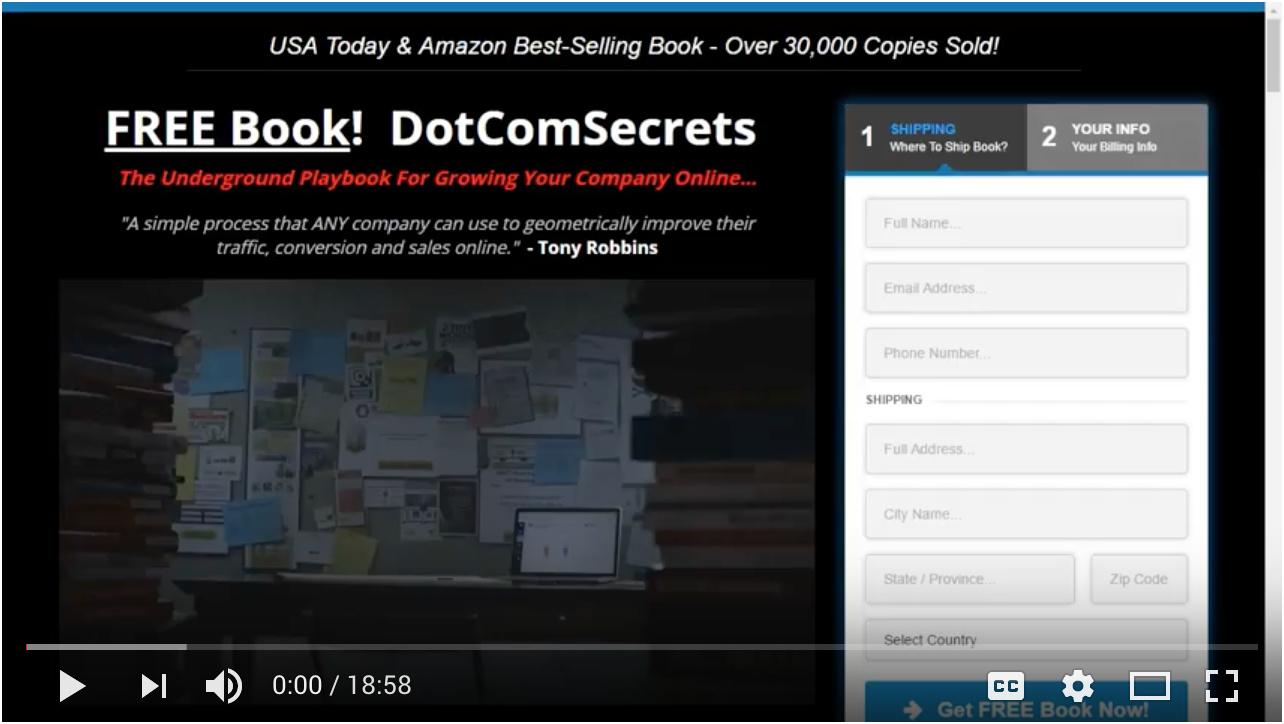 Video - Day 6 - Step 5 of 5 - Walk-through Creating Your DCS Book Affiliate Funnel