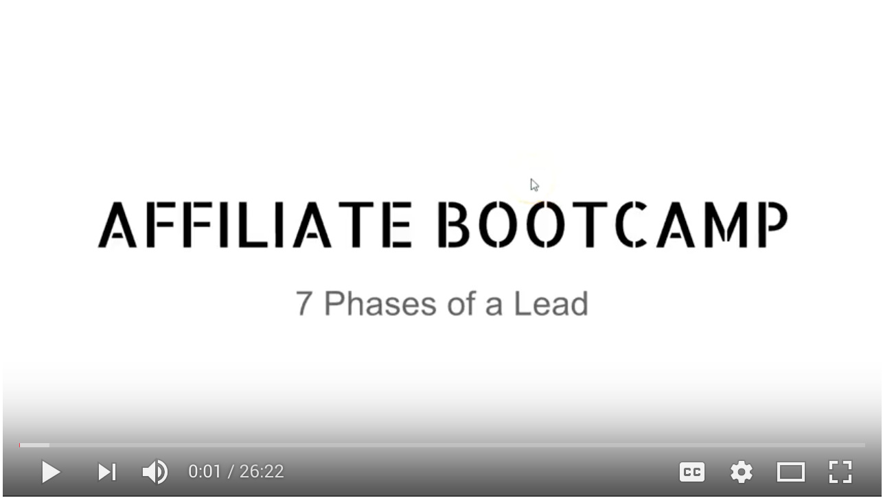 Video - Day 5 - Step 3 of 4 - Walk-through 7 Phases of a Lead and How It Helps YOU As An Affiliate
