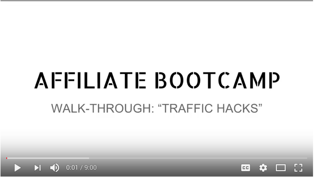 "Video - Day 4 - Step 3 of 5 Walk-through ""Traffic Hacks"""