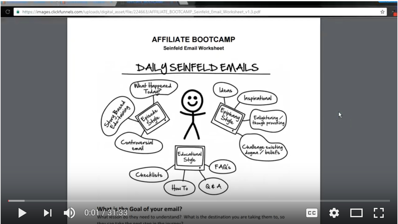 Video - Day 63 - Step 3 of 3 - Walk-through Seinfeld Emails - Review From Day 12