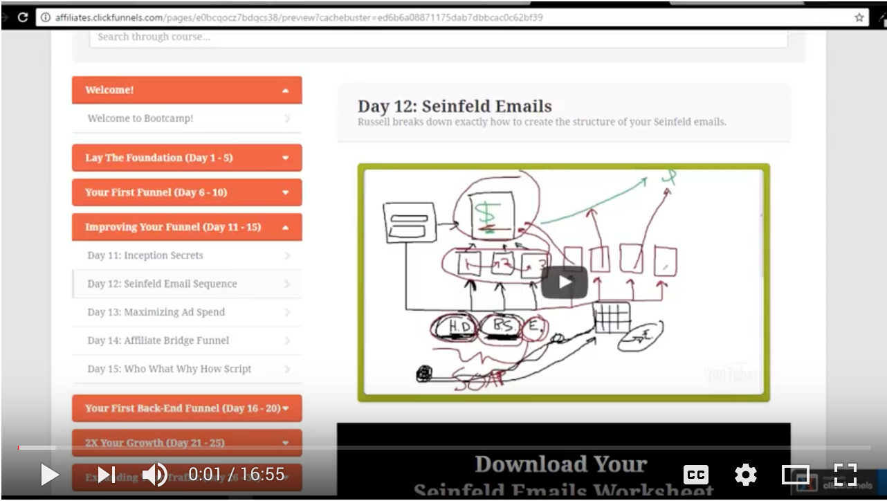 Day 33: FunnelScripts Seinfeld Emails - Affiliate Bootcamp — Free