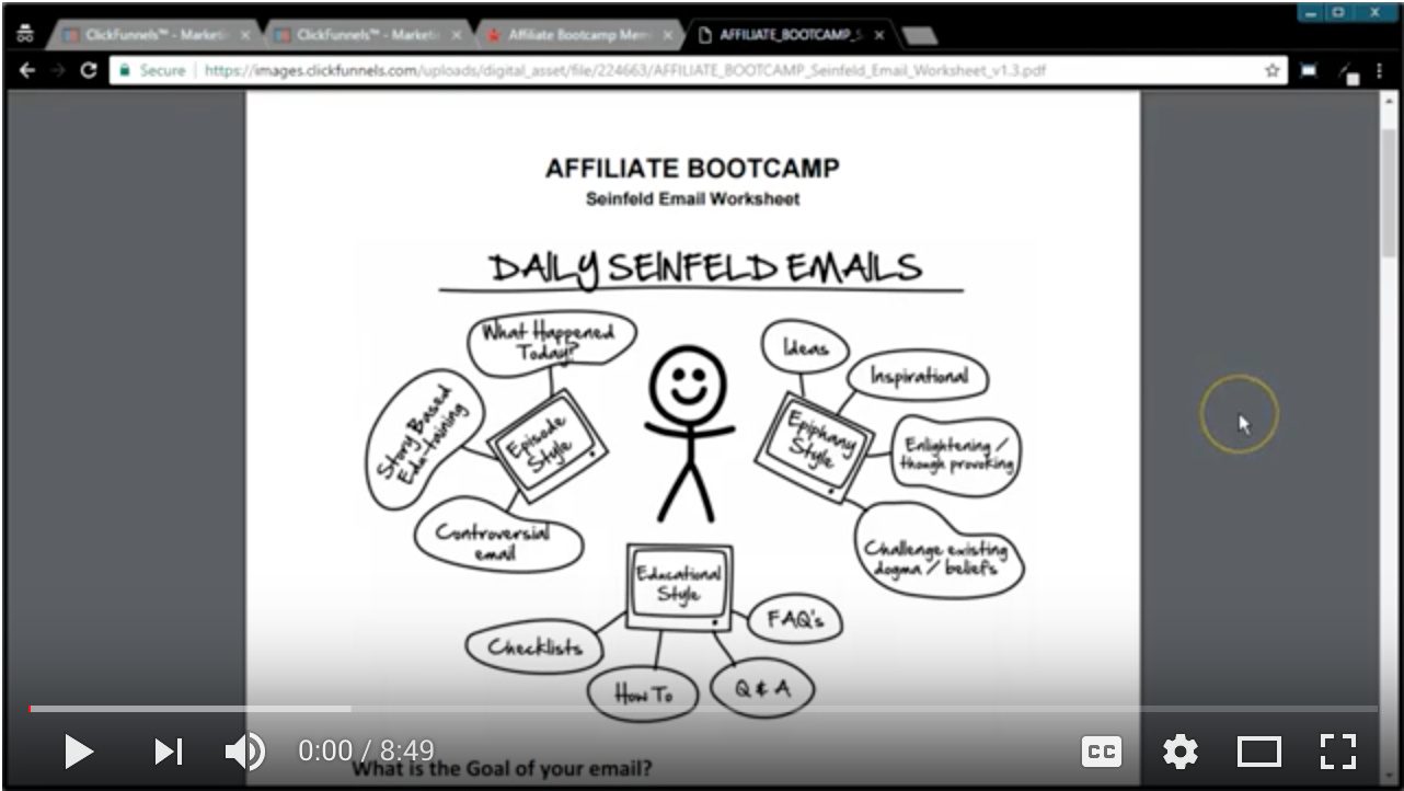 Video - Day 53 - Step 1 of 3 - Funnel University Seinfeld Emails