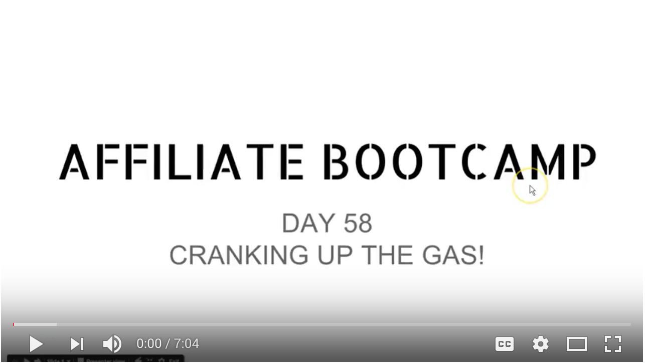 Video - Day 58 - Cranking Up The Gas