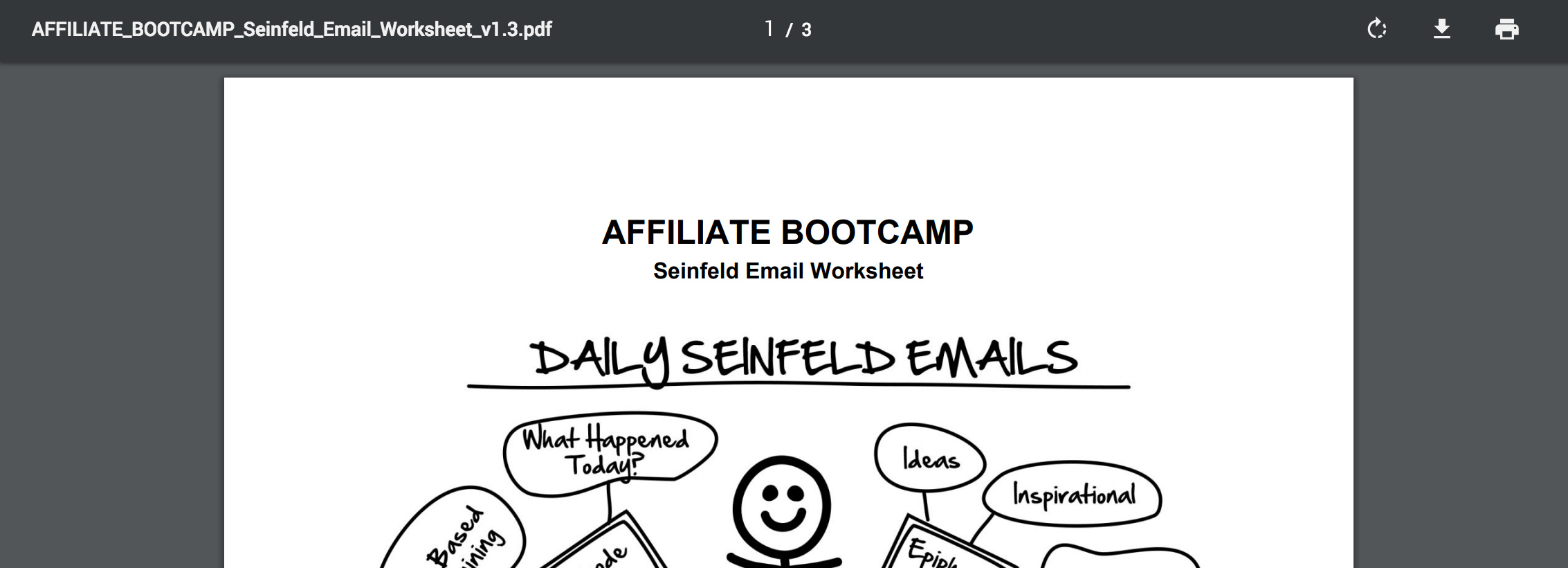 PDF - Day 33 - Step 2 of 3 - Download Your Seinfeld Emails Worksheet