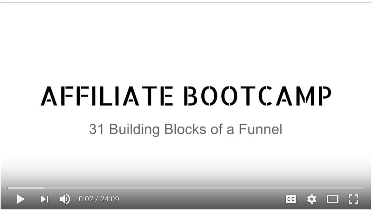 Video - Day 6 - Step 4 of 5 - Walk-through 31 Building Blocks of a Funnel