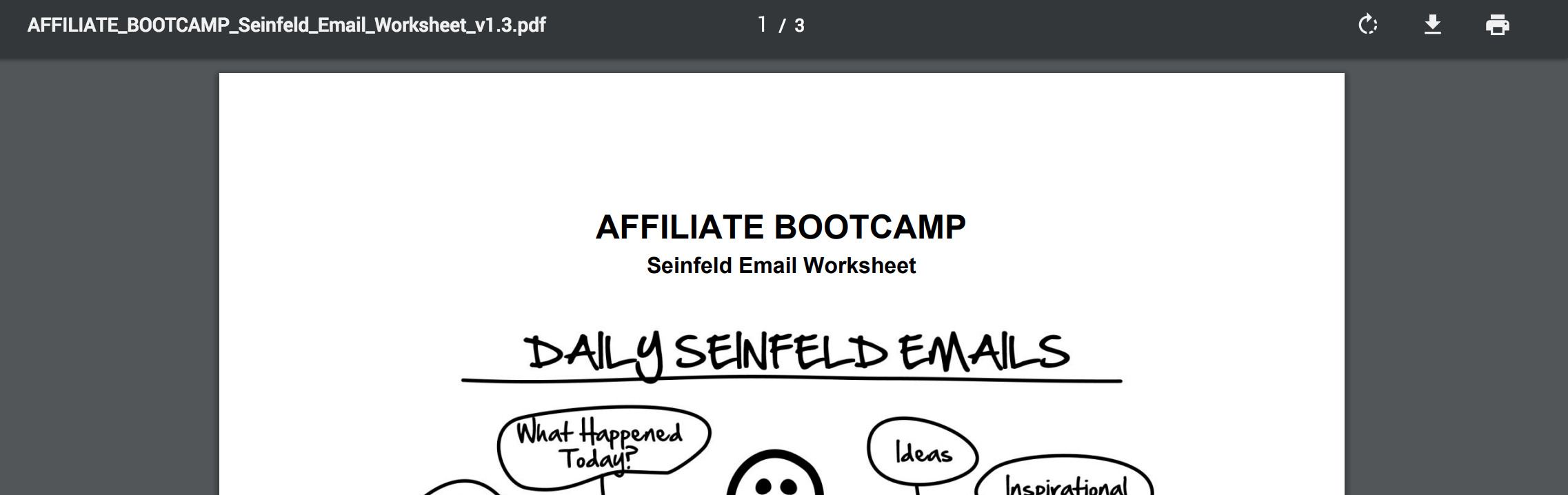 PDF - Day 12 - Step 2 of 4 Download Your Seinfeld Emails Worksheet