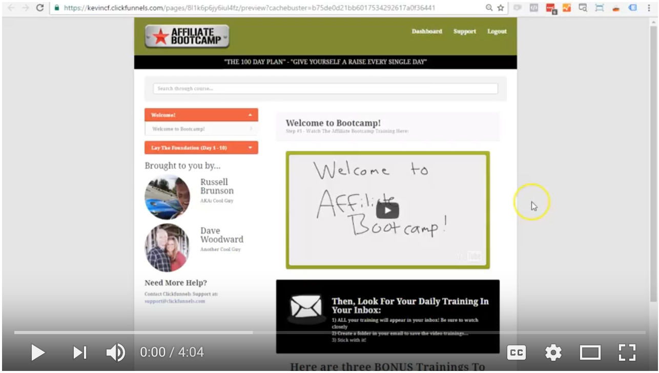 Video - Setup Your Affiliate Account