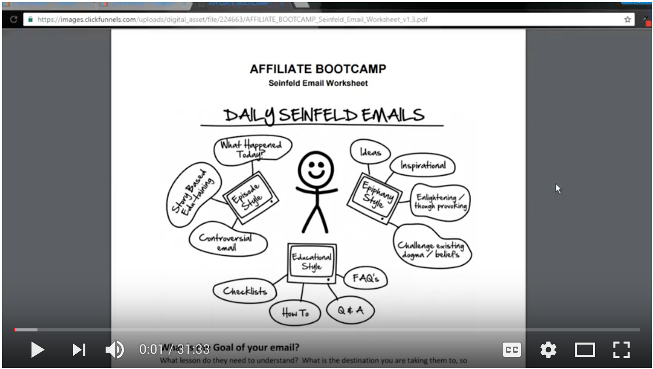 Video - Day 43 - Step 3 of 3 - Walk-through Seinfeld Emails - Review From Day 12