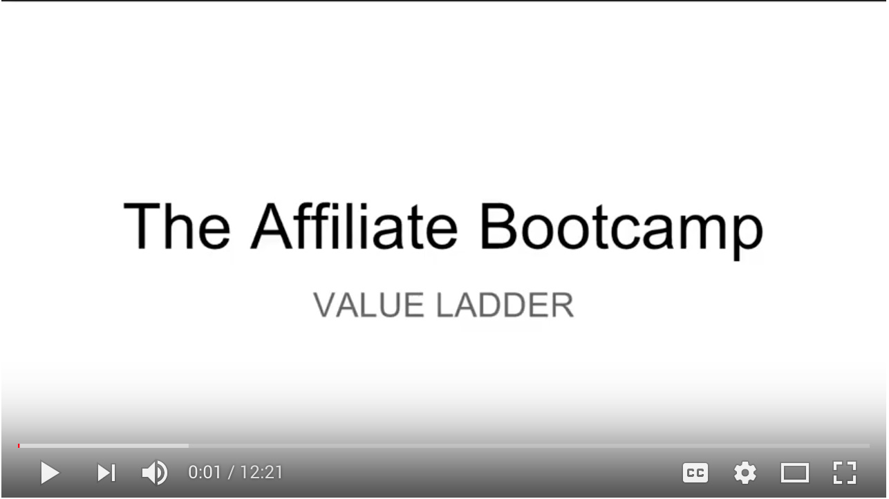 Video - Day 3 - Step 3 of 4 Walk-through Creating Your Affiliate Bootcamp Value Ladder