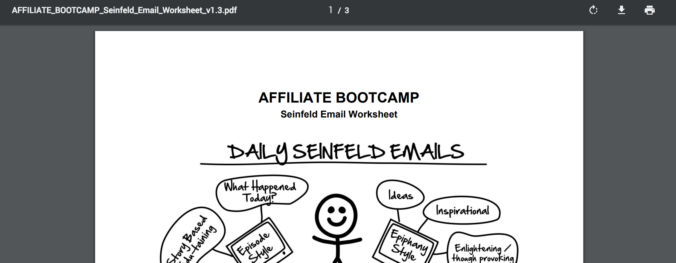 PDF - Day 43 - Step 2 of 3 Download Your Seinfeld Emails Worksheet